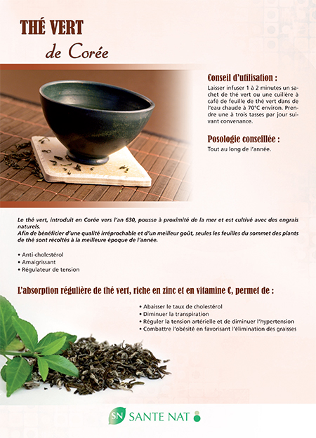 thé vert de corée