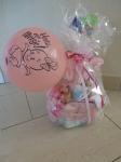 Roze luiertaart - geboorte meisje